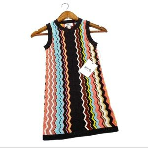 Missoni x Target girls small zig zag knit dress